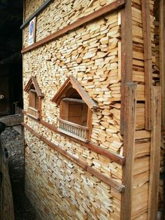 Stacking Firewood, Stacking Wood, Fire Wood, Wood Shed, Wood Storage, Outdoor Storage, Wood Art, Windows, Home Decor