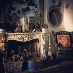 alessandro-michele-gucci-instagram-habituallychic-014 French Interior, Interior Design, Alessandro Michele Gucci, Fireplace Mantels, Mantle, Fireplaces, French Style Homes, Scottish Fashion, Beautiful Home Designs