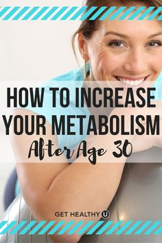 Check out these tips to increase your metabolism in your 30s! If you're finding it harder to lose weight after age 30, you're not alone, let us help!