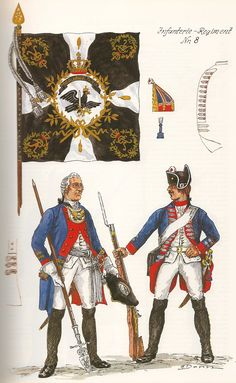 Prussia; Infantry Regiment No.8 c.1750