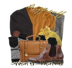"""""""Hufflepuff Sweater Weather"""" by ouro-asunder ❤ liked on Polyvore featuring J.Crew, Madewell, Kova & T, Grace, Karolina Bik Jewelry, Dollydagger, Jonathan Adler, ASOS, n.d.c. and harrypotter"""
