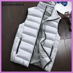 148be0097d852 Men s Sleeveless Vest jackets Men Quality Winter Casual Coats Male Fashion  Cotton-Padded Vests Men Waistcoat Plus Size 993