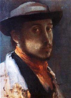 Self Portrait in a Soft Hat - Edgar Degas, 1858