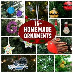 More than 75 DIY ornaments to put on your tree. There's nothing like making homemade ornaments together each year. Felt Christmas Decorations, Kids Christmas, Christmas Tree Ornaments, Merry Christmas, Party Activities, Fun Activities For Kids, Crafts For Kids, Learning Activities, Homemade Ornaments