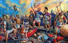 Aftermath of Cannae, the Carthaginians stand victorious over the battle field…