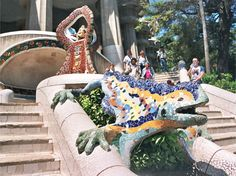 Fuente del dragón - Gaudí, Barcelona, España