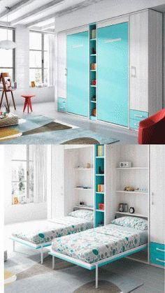 """Fantastic """"murphy bed ideas space saving"""" information is offered on our internet site. Read more and you wont be sorry you did. Cama Murphy, Build A Murphy Bed, Murphy Bed Desk, Murphy Bed Plans, Murphy Bunk Beds, Kids Bedroom, Bedroom Decor, Modern Murphy Beds, Bed Wall"""