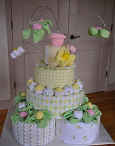 Baby+Shower+Diaper+Cake+Instructions | Diaper cake inspirations for your next baby shower. Enjoy the gallery ...