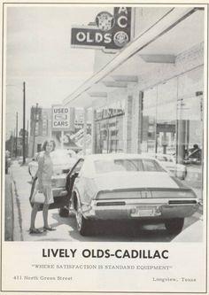 Lively Olds-Cadillac Dealership promo postcard pictured 1970 Olds Toronado