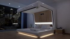 Wonderful-interior-of-bedroom-in-high-tech-style