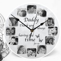 Personalise your 12 photo Clock Personalized Clocks, Personalized Photo Gifts, Photo Clock, Candle Packaging, Photo Quality, Wow Products, Grandkids, Your Design, Special Occasion