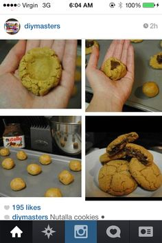 No Bake Nutella Cookies | Yum! Desserts | Pinterest | Nutella Cookies ...