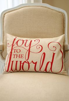 Christmas pillow. Great for embroidery or painting.