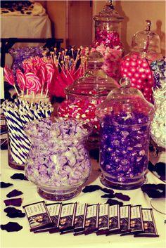 Another candy buffet...very cute! #Minnesota #weddings