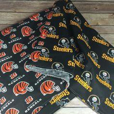 NFL Football Cincinnati Bengals vs Steelers blanket. Choose your teams, colors, and customization by SewSewU