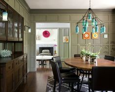 Eclectic Modern Tudor Dining Room Boston Lda Architecture Interiors Like The Tree Design On Wall