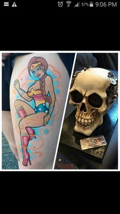 Start of my thigh piece.. Mini WW followed.. Comp piece - runner up. Mason @ Poison Ink