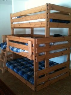 Twin Full Full Triple Bunk Beds: Now you're talking! plenty of room for up to 5 kids of the same gender!