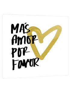 Two Palms Art Bazaar Mas Amor Por Favor (Plexiglass)
