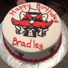 Texas tech birthday cake