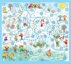 Настольная игра, для детей, Зимушка, Зима