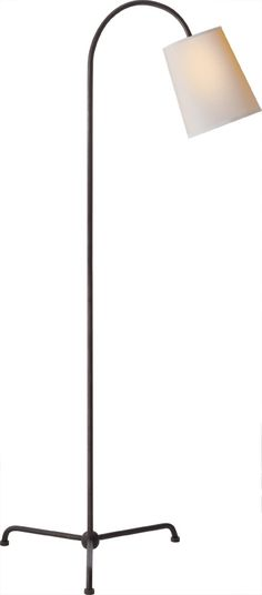 "Visual Comfort - Mia Floor Lamp by Thomas O'Brien in Aged Iron.  Height: 56"" Width: 27"" Extension: 26 1/2"" Base"" 15"" Tripod Shade: 6"" x 8"" x 9"""