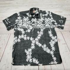 ff24edb8 Hilo Hattie Mens 2XL Hawaiian Aloha Pullover Shirt Tropical Floral Reverse  Luau #HiloHattie #Hawaiian