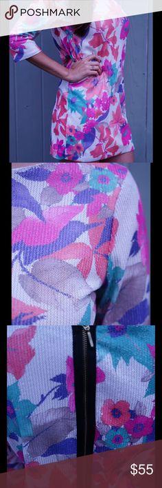Tropical Zara Dress Tropical patterned Zara Dress. Perfect for Fall, Winter and Spring months. Size Medium. Zara Dresses