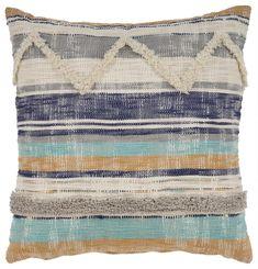 LR Home Multicolored Geometric Chevron Throw Pillow 18 inch (Multi - Cotton - Textured/Stripe) Chevron Throw Pillows, Decorative Throw Pillows, Navy Blue Area Rug, Blue Area Rugs, Pillows Online, Pillow Reviews, Cotton Throws, Cushion Pads, Box Cushion