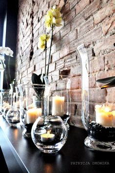 SUSzi surowizna, glass candles decorations interior design by Dmowska Design Patrycja Dmowska / projekt wnętrza Dmowska Design Patrycja Dmowska / architekt wnętrz Warszawa /architekt wnętrz Siedlce