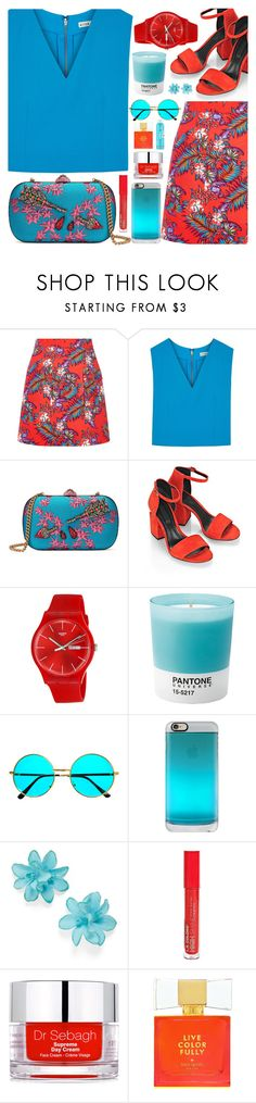 """""""Fancy that happening"""" by floralandmay ❤ liked on Polyvore featuring House of Holland, Alice + Olivia, Gucci, Alexander Wang, Swatch, Pantone, Casetify, Carole, L.A. Colors and Dr. Sebagh"""