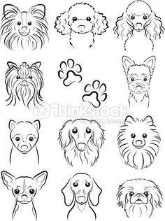 Vector Art : Dog / Line drawing