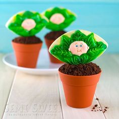 """#TBT A throwback of a throwback of a springtime favorite of mine (a lot of """"of""""s). Here's a cookie cupcake topper an 80s kid could appreciate. Cabbage Patch Kid cookies! #80s #cabbagepatchkids #80scookies #decoratedcookies #mycupcakeaddiction #cupcakes #royalicing"""