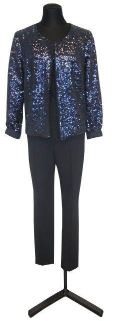 1.2.3 Paris - Veste Rodeo / Pull Cupcake / Pantalon Martin #noir #noel #123 #mode #fetes #sequins #bleu