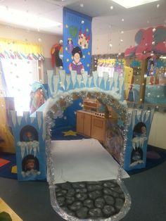 Fairytale frozen snow castle dramatic play