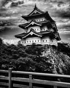 Black and white fine art images pf the Pagoda Hirosaki Castle with red bridge  in Hirosaki Castle Park in Hirosake Japan. This  idyllic garden scenic today evokes tranquility and peace in an histoiric Shogun castle setting with a violent past. Sip a saki and enjoy! From our Celebrate the World Fine Art Gallery visit the http://ift.tt/1thqi0O link in bio for more! #blackandwhite #hirosaki #shogun #castle #japan #japanese #bandw #wow #instagood #travel #travelblog #interfaceimages #instamood…