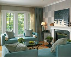 A fresh and lovely interior that reflects this color scheme concept.