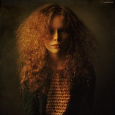 Emotive Portrait Photography by Russian photographer Alexandra Kirievskaya -- Redhead - Ginger - Wild Hair - Editorial - Pose