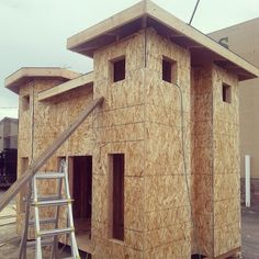 """11 Likes, 1 Comments - Salt Lake Parade of Homes (@saltlakeparadeofhomes) on Instagram: """"One of four playhouses being build for the parade of homes. We will be auctioning these off during…"""""""