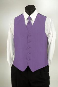 Wisteria vest with matching windsor tie at Tuxedo Junction