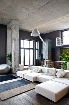 cement ceiling