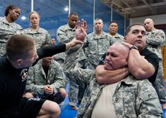 Each and every soldier is efficient with weapons, they also need to be an effective warrior without a weapon. Army combatives is close quarters combat.