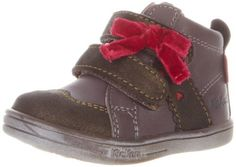 Kickers Tamara Bow Sneaker, Khaki, 19 M EU/4 M US Toddler Kickers. $99.00. leather. Rubber sole. Made in Morocco