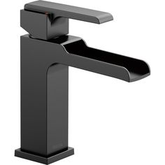 Delta Faucet 568LF-BLLPU Ara Matte Black One Handle Bathroom Faucets  | eFaucets.com