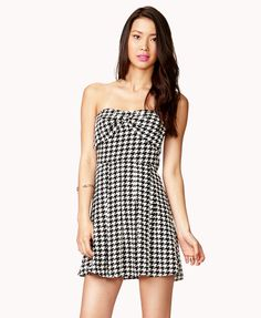 Sweetheart Houndstooth Dress from FOREVER21! Now get 4% cash back on Forever 21 when you shop through studentrate.com!