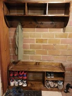 Entry Way Bench And Shelf | Do It Yourself Home Projects from Ana White