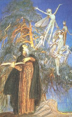 "Eleanor Fortescue-Brickdale (1872-1945), ""Prospero and Ariel"" by sofi01, via Flickr"