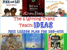 A FREE printable Lesson Plan to teach the Six Writing Traits, IDEAS Trait to… - Home Schooling İdeas Fifth Grade Writing, 6 Traits Of Writing, Stages Of Writing, Middle School Writing, Writing Strategies, Writing Mini Lessons, Teaching Writing, Writing Activities, Writing A Book