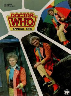 The Doctor Who annual starring Colin Baker, Circa Doctor Who Books, Colin Baker, Blake Lively Style, Science Fiction Series, Sci Fi Tv Shows, Sci Fi Horror, Dalek, Good Doctor, Vintage Music