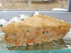 Salmon pie without crust Salmon Pie, Salmon Potato, Shellfish Recipes, Seafood Recipes, Salmon Recipes, Dinner Recipes, Crustless Pie Recipe, French Meat Pie, Easy Healthy Recipes